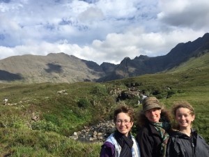 Hiking fairy pools Isle of Skye Harris Tweed Hat