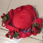 red vintage hat petershams