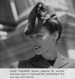 Aage Thaarup hat on model