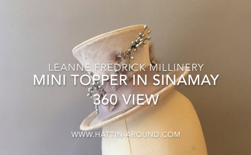 My Birthday Hat – Mini Topper Sinamay