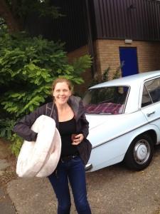 Edwina with vintage blue