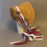 Straw plait bonnet