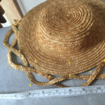 Straw Plait hat in progress