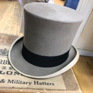 Grey silk top hat